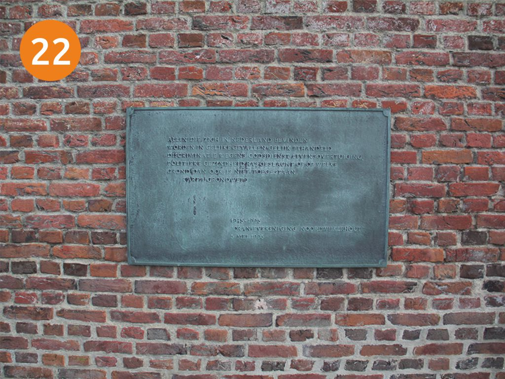 Plaquette in Noordwijkerhout
