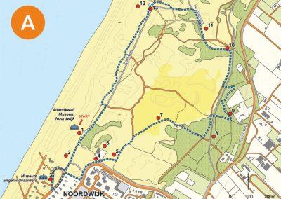 Wandelroute Atlantikwall Noordwijk, , Oranjeroute, Oranjeroute Noordwijk, Oranjeroute De Zilk, Oranjeroute Noordwijkerhout